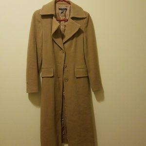 Zara Size S Tan Pea Coat Jacket Trench Duster